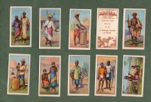 Collctable cigarette cards set  African Types 1936, Zulu , Masai,Kaffir Miners etc